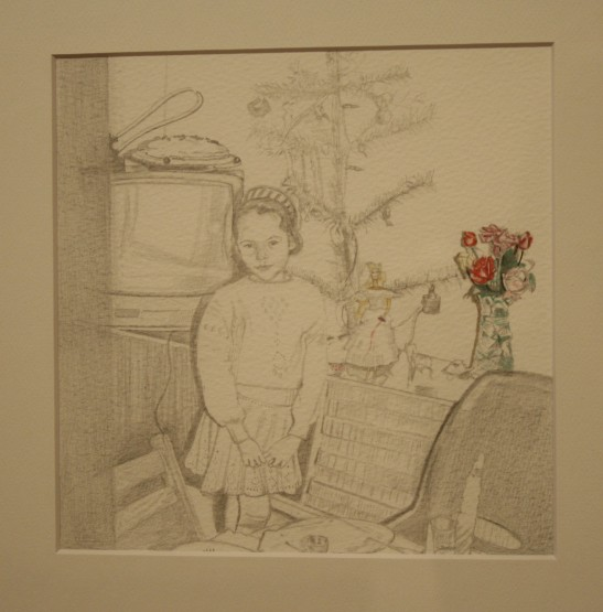 Anna Kovler, Self Portrait as a Child at New Years